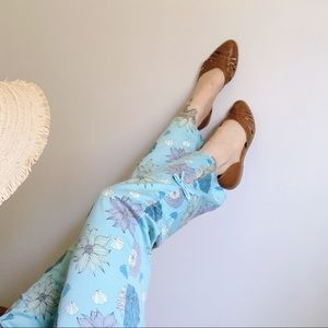 TIBI Seaflower Tie Hem Stretch Cotton Capri